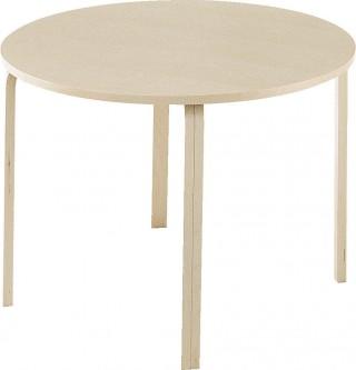 pyöreä tammipöytä
